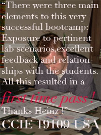 comment from CCIE 19109 about Heinz Ulm s Camp